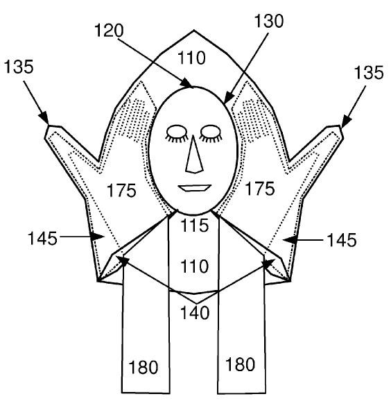 Layover Travel Pillow - U.S. Patent 8205283, Gerald R. Prettyman, Patent Attorney