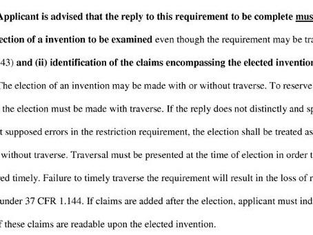 Patent Restriction Practice