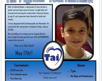 Tai Fighter Benefit Tournament - Saturday May 17th