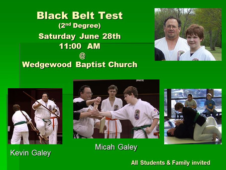 Black Belt Testing 2014