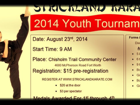 Strickland Karate presents Youth Tournament 2014