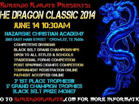 TKL and Burendo Karate Proudly Present the Dragon Classic 2014