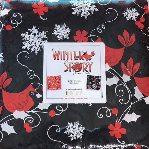 "Winter Story 10"" Layer Cake"