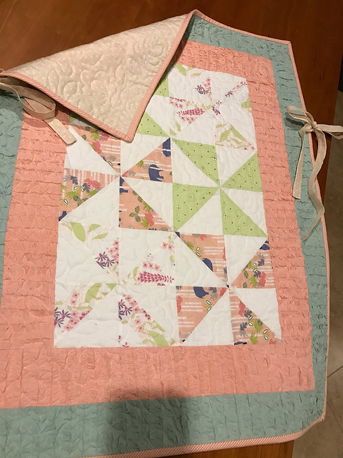 Ruffles & Pinwheels - Baby On The Go Quilt