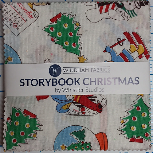 """Storybook Christmas by Whistler Studios 5"""" Charm Pack"""