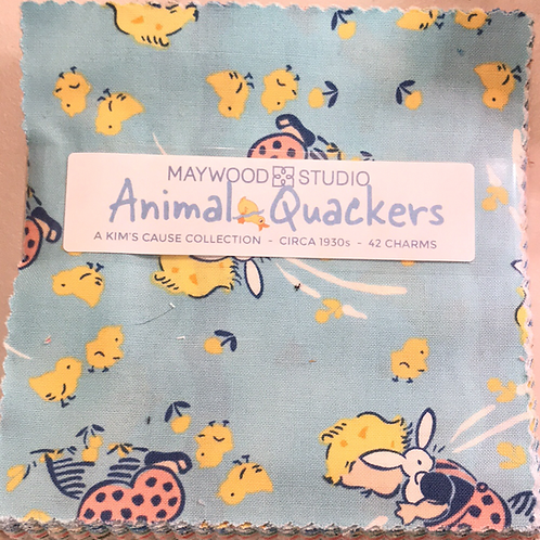 """Animal Quackers 5"""" Charm Pack"""