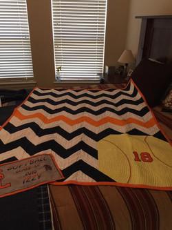 Chevron Softball quilt