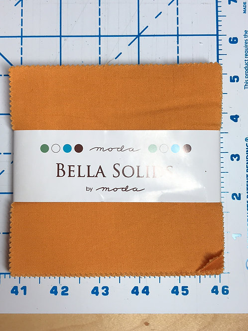 "Cheddar Bella Solids by Moda 5"" Charm Pack"