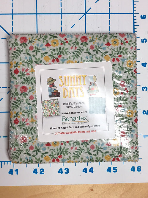 "Sunny Days 5"" Charm Pack"