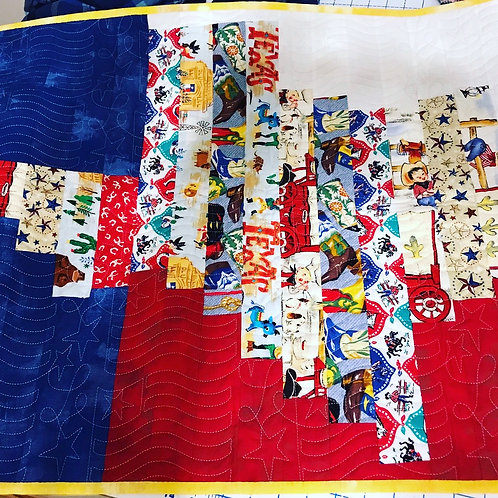 Pride of Texas - Baby On The Go Quilt