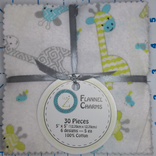 "5"" Flannel Infant Animal Charm Pack"