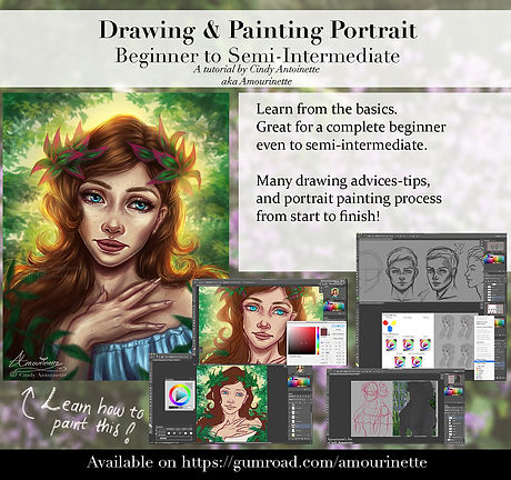 Drawing & Painting portrait gumroad