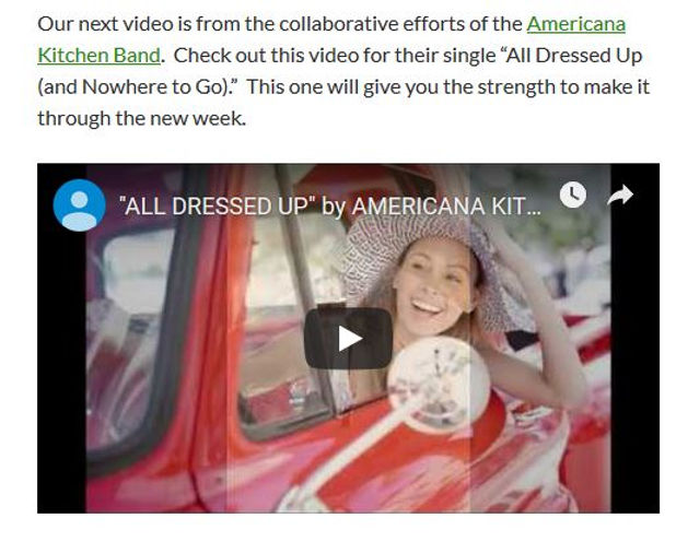 Americana Kitchen All Dressed Up Video R