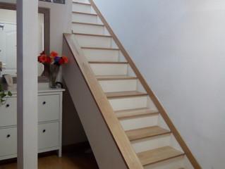 Revestimiento y forrado de escaleras con madera
