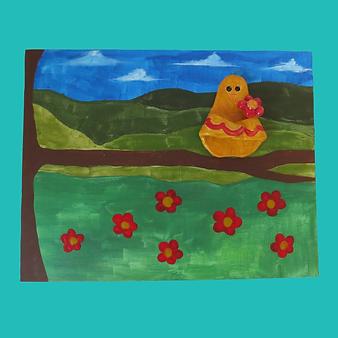 1- Canvas Paint & Embellishment
