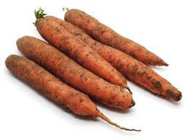 1Kg Dirty Carrots