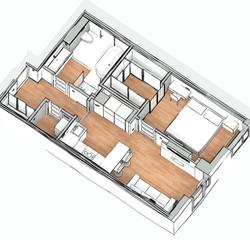 Апартаменты 3д 2