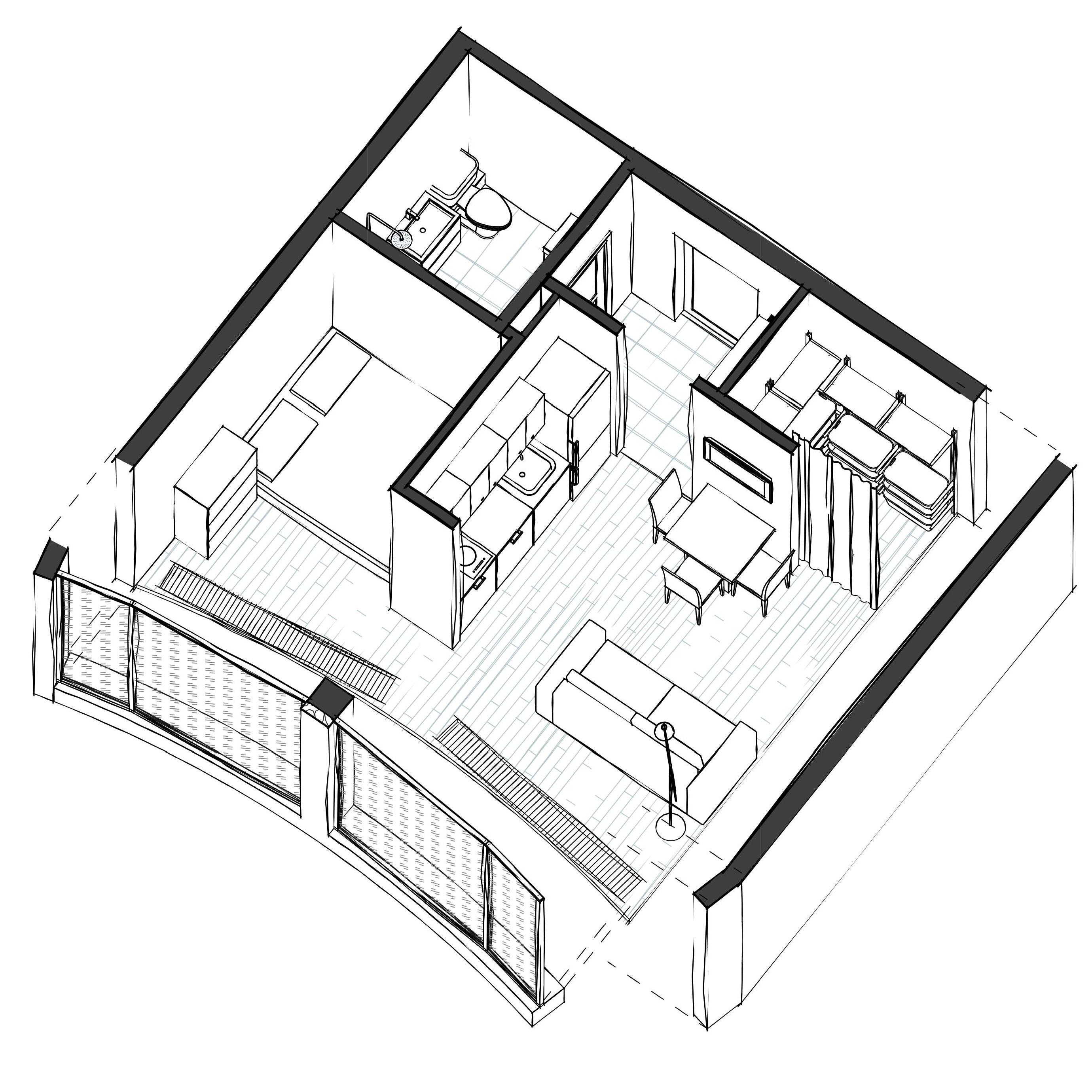 Апартаменты Мск 3д1