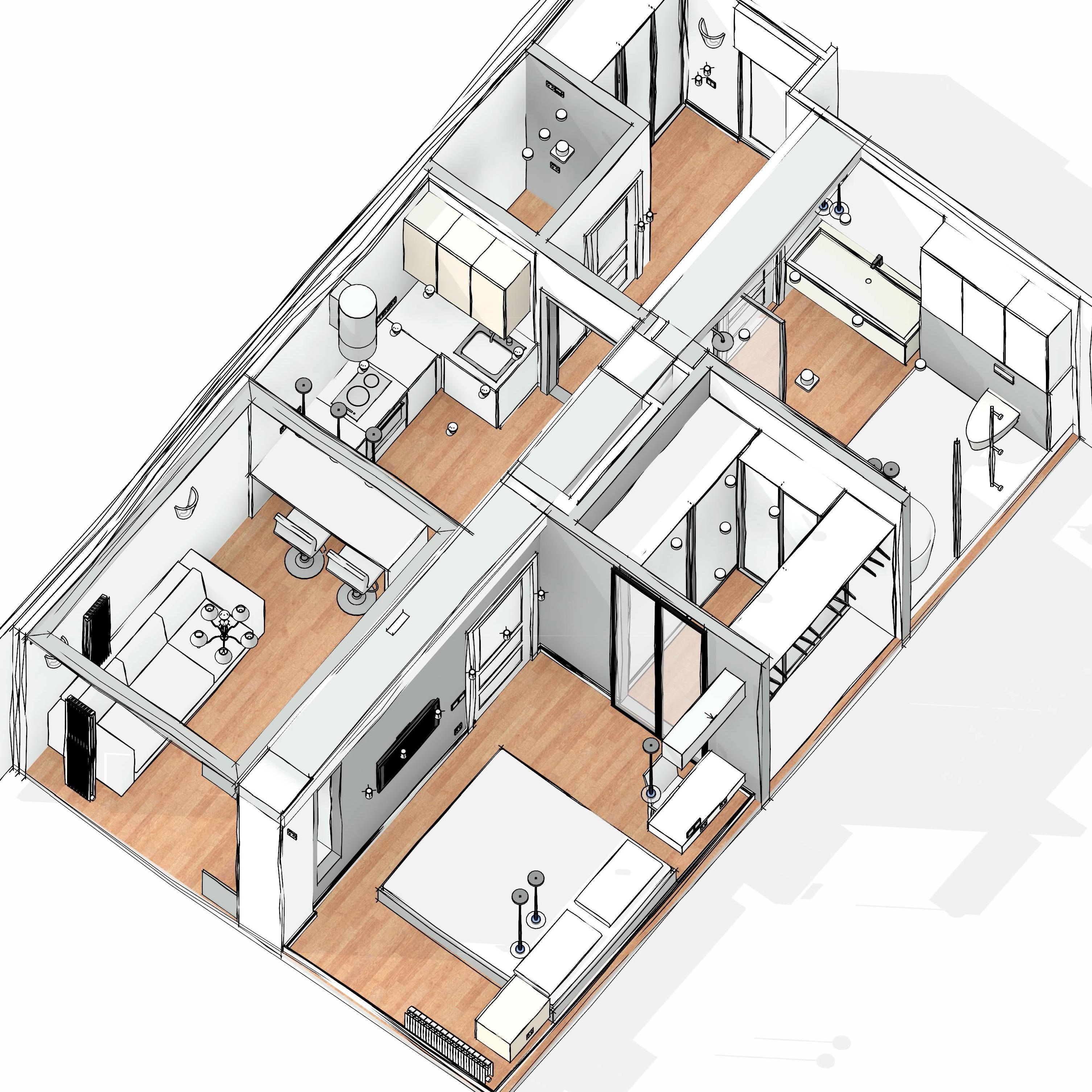 Апартаменты 3д 1