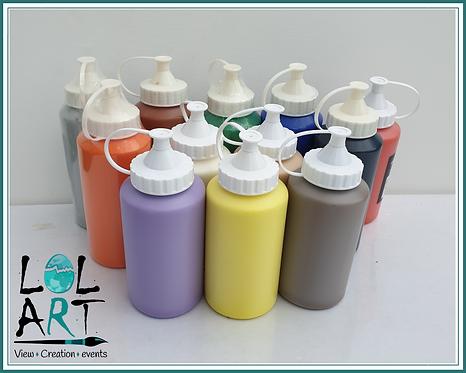 """צבע אקריליק בקבוק 500 מ""""ל"""