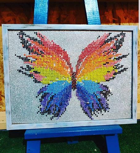 קיט פיקסלים 33*43 ציור על זכוכית