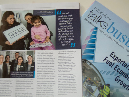 Cranford Opticians featured in 'Hounslow talks business'