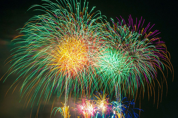 Image of multicolour fireworks