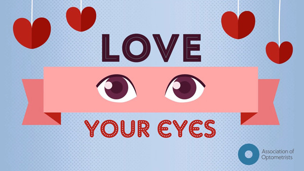 Love your eyes image with love hearts and eyes