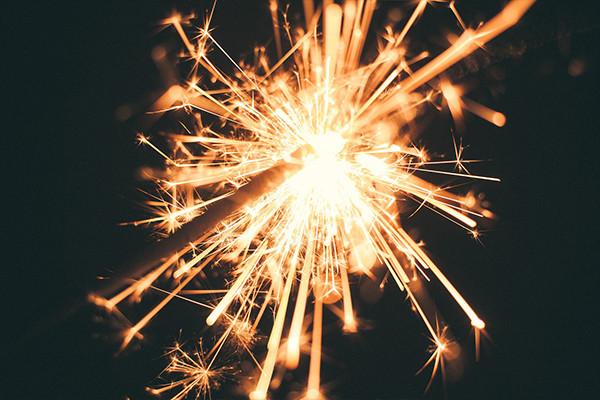 Image of a sparkler burning