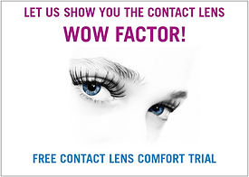 Special offer for free contact lens trial at Cranford Opticians, Hounslow, London