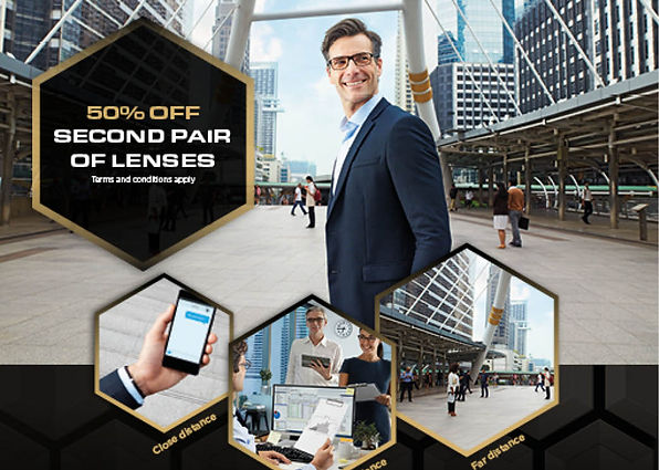 Special offer: 50% Off second pair of lenses. Offer valid until 24th December 2018 at Cranford Opticians, Hounslow, London