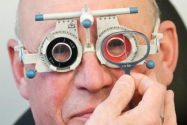 Image of a man having an eye test