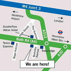 Local map to show where Cranford Opticians in Hounslow, London is situated