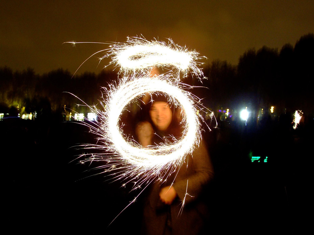 Image of someone with sparklers