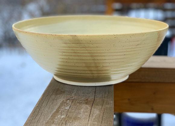 Large fruit/serving bowl in mustard