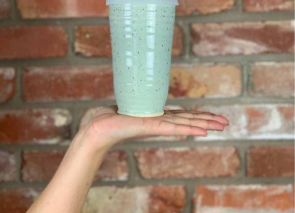 Travel mug in sea glass