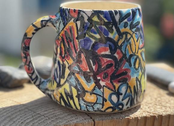 Graffiti mug 18 ounce