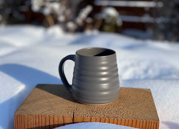 Summer pre-order Charcoal mug in speckled clay