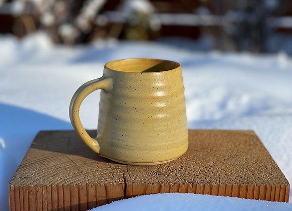 Summer pre-order Mustard Mug speckled stoneware