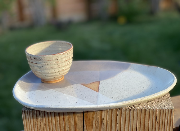 Charcuterie tray with bowl