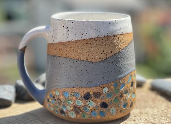 Multicolored pebbles mug