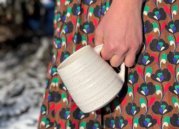 Summer Pre-Order Cotton mug in Specked white stoneware