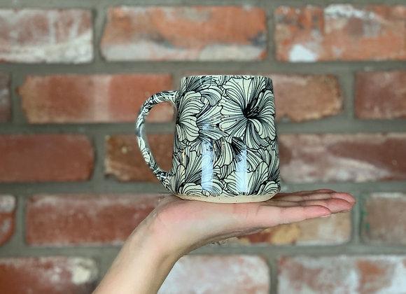 Hibiscus floral mug