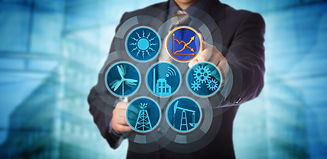 Blue chip manager monitoring energy effi