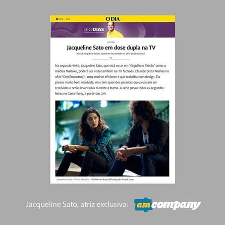 Jacqueline Sato na coluna Leo Dias o Jornal o Dia.