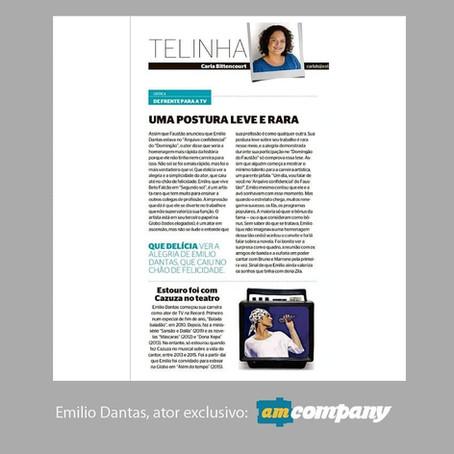 Emilio Dantas no Jornal Extra