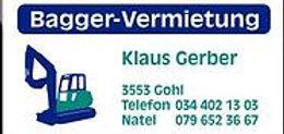 Sponsor Bagger Vermietung Klaus Gerber