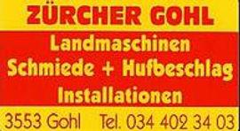 Sponsor Zürcher Gohl