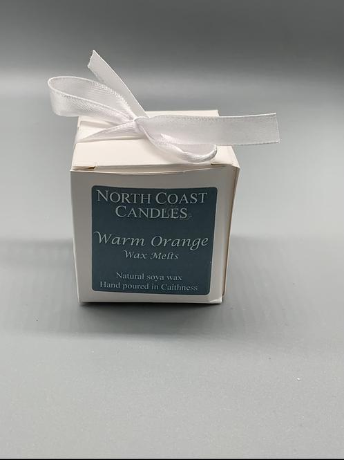 Warm orange wax melts