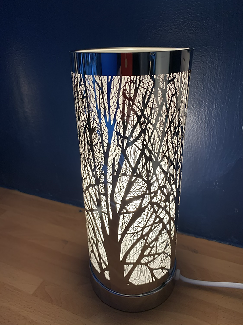 White silver touch aroma lamp